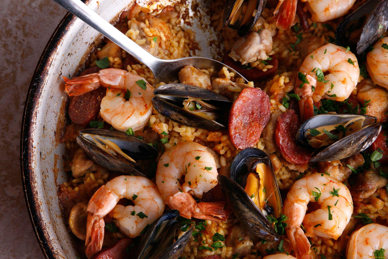 Блюдо из морепродуктов картинки